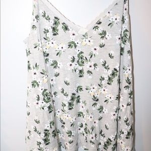 Other - Grey Floral Pajama Set